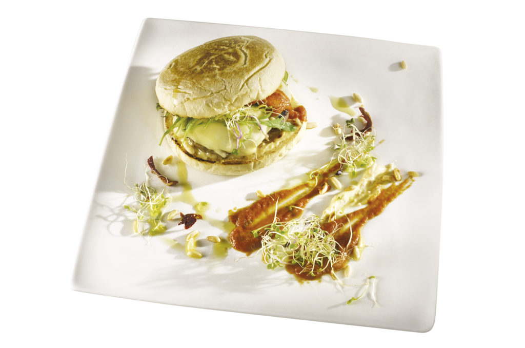 cheeseburger di maio di pinoli