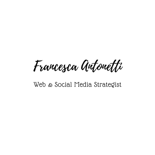 logo Francesca Antonetti – web e social media manager